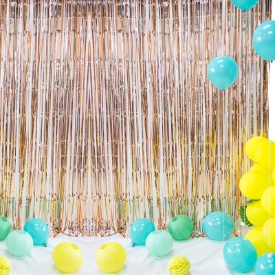 Color Rain Curtain Wedding Background Wall Decorations Birthday Party Dress Up Activities Room Layout