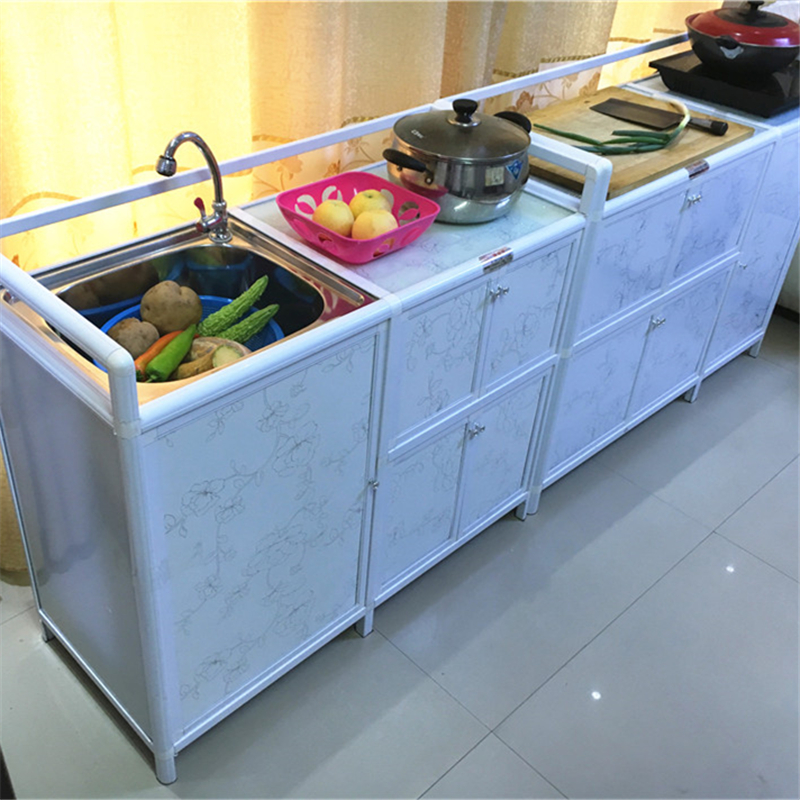 Thickened Kitchen Cabinet Aluminum Stove Cabinet Sink Cabinet