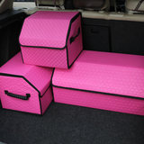 汽车收纳箱后备箱储物箱多功能车载置物盒卷后18元包邮