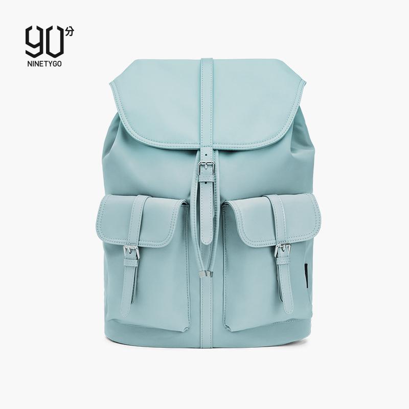 90分双肩包女可爱背包百搭潮流学生书包电脑包时尚女士休闲背包