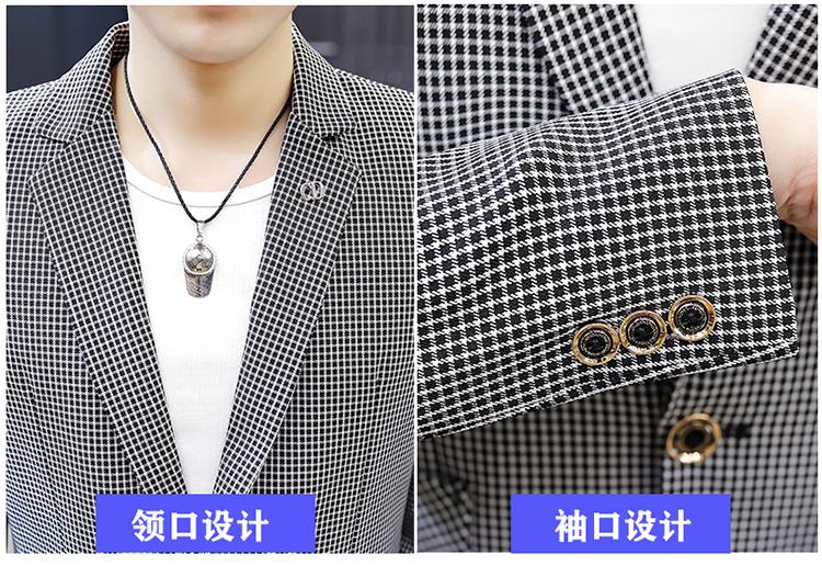 青年西装韩版纯色休闲小西服百搭新款单上衣礼服潮X1828-P80