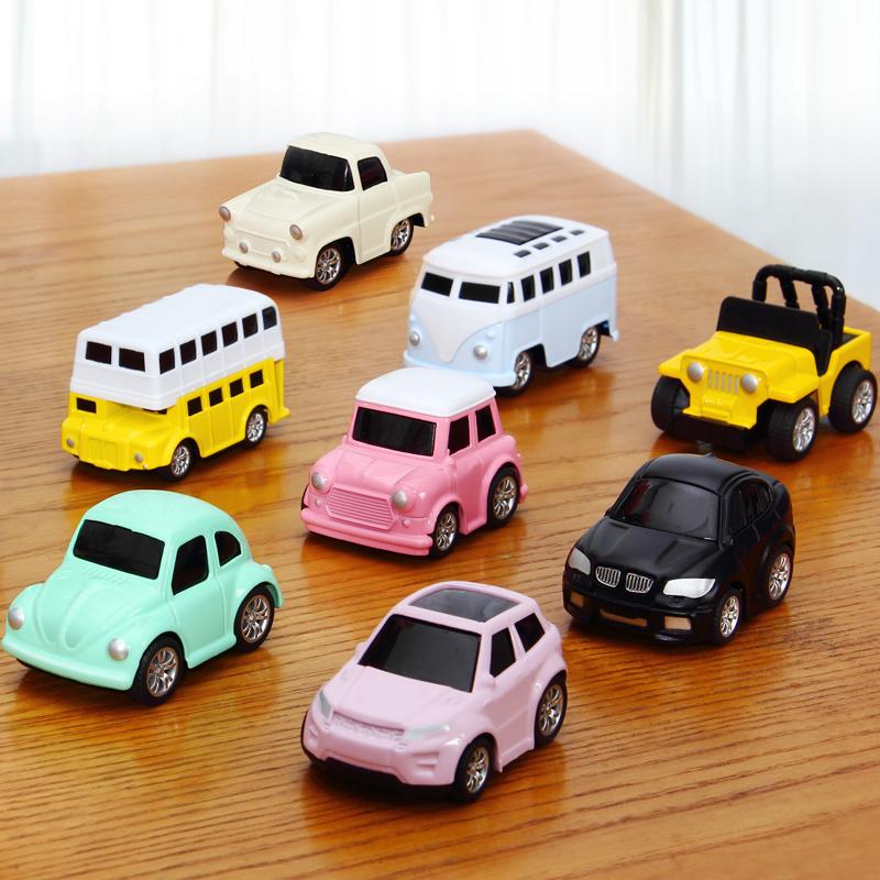 回力车合金小汽车玩具男孩女孩1-2-3岁惯性宝宝儿童玩具车套装