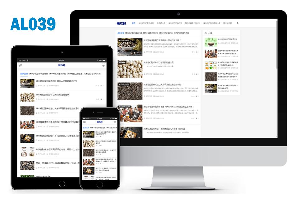 药材行业百度MIP响应式博客网站建设案例 精选案例