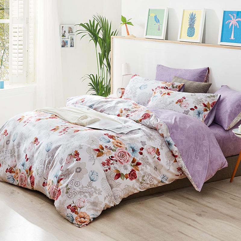 梦洁美颂 水洗棉床品四件套 1.2-1.5米