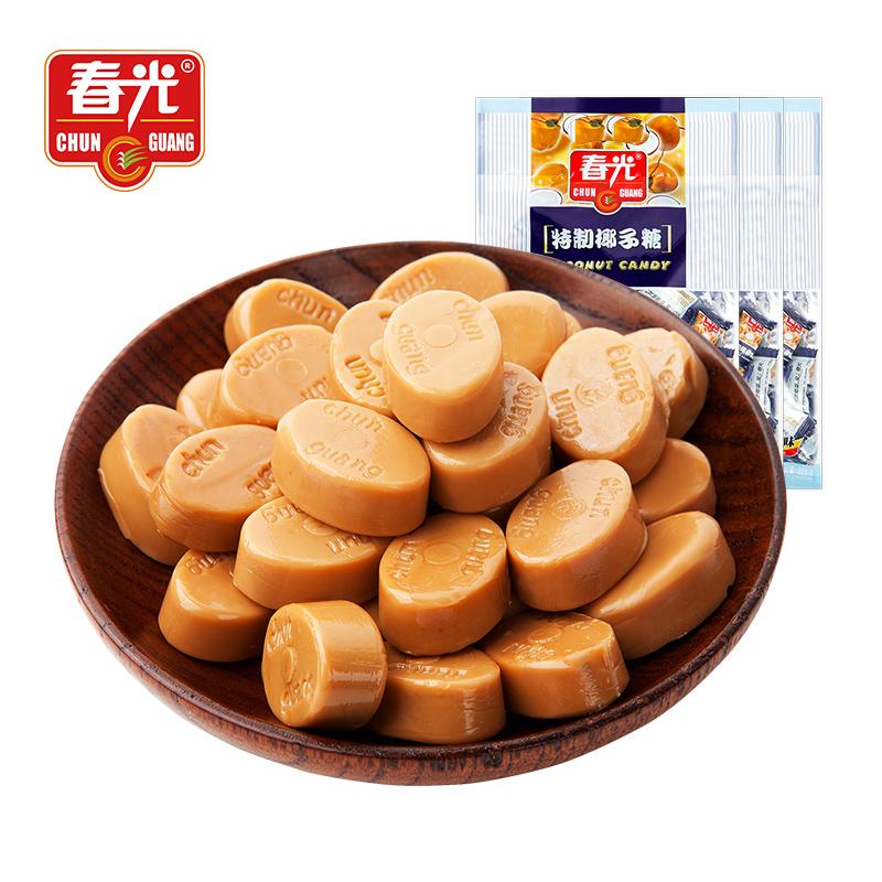 春光食品海南特产零食糖果特制椰子糖228g×3东郊椰林椰子味