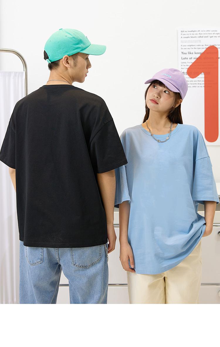 森马旗下 爱肯 精梳纯棉纯色中性T恤 图8