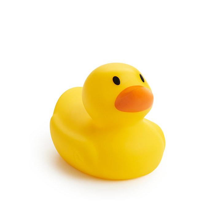 美國munchkin麥肯齊滿趣健寶寶洗澡玩具安全感溫變色小黃鴨
