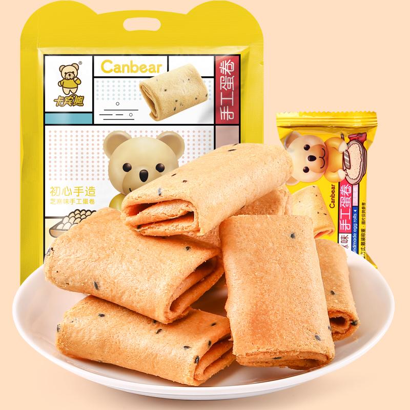 卡宾熊食品凤凰卷零食大礼包500g香酥可口蛋卷饼干早餐糕点38小包_天猫超市优惠券