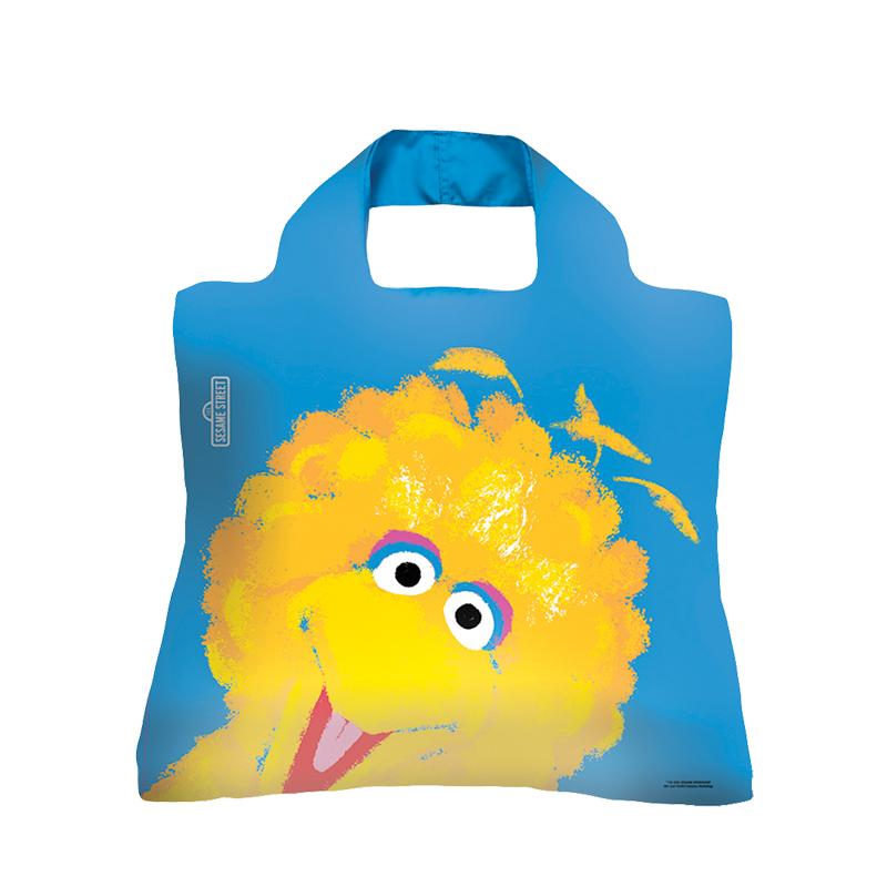 12-02新券EnviroSax芝麻街春卷包 大容量手提环保袋可折叠购物袋单肩包大包