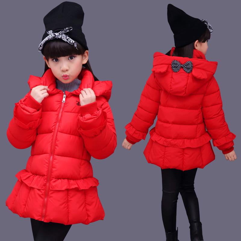 女童棉衣2018新款冬装3岁儿童羽绒棉服5小女孩洋气厚棉袄4中长款8
