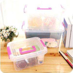 Hộp nhựa vệ sinh hộp lưu trữ hộp lưu trữ hoàn thiện lớn vừa thiết bị gia dụng trong suốt hộp nhỏ hộp nano hộp