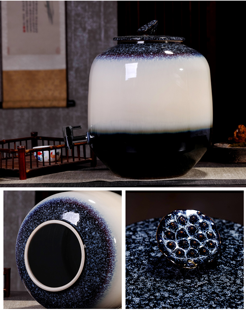 Jingdezhen ceramic jars it jugs archaize home mercifully bottle wine jar with leading 15 kg 30 jins of 50 pounds