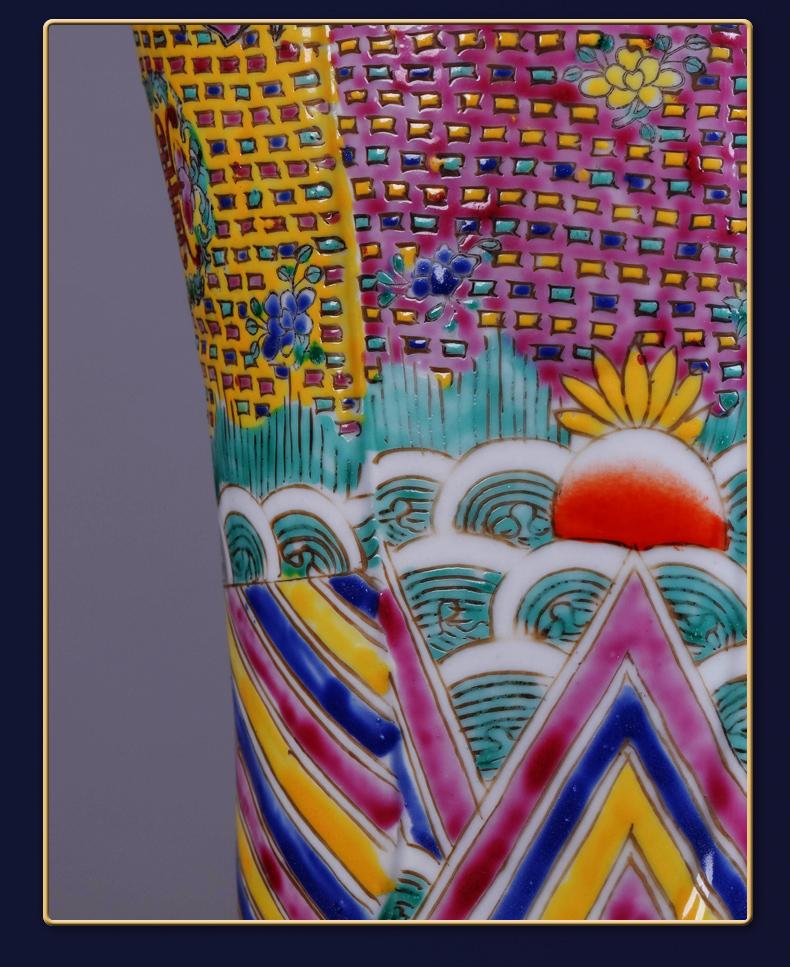 Jingdezhen ceramic its by hand fu lu shou samsung annunciation furnishing articles study home sitting room office decoration
