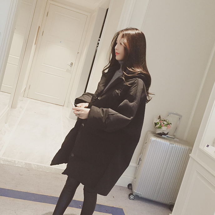 Mùa đông 2018 phiên bản Hàn Quốc mới đã mỏng trong phần dài của phụ nữ cotton lỏng áo ấm trùm đầu áo khoác áo khoác thủy triều