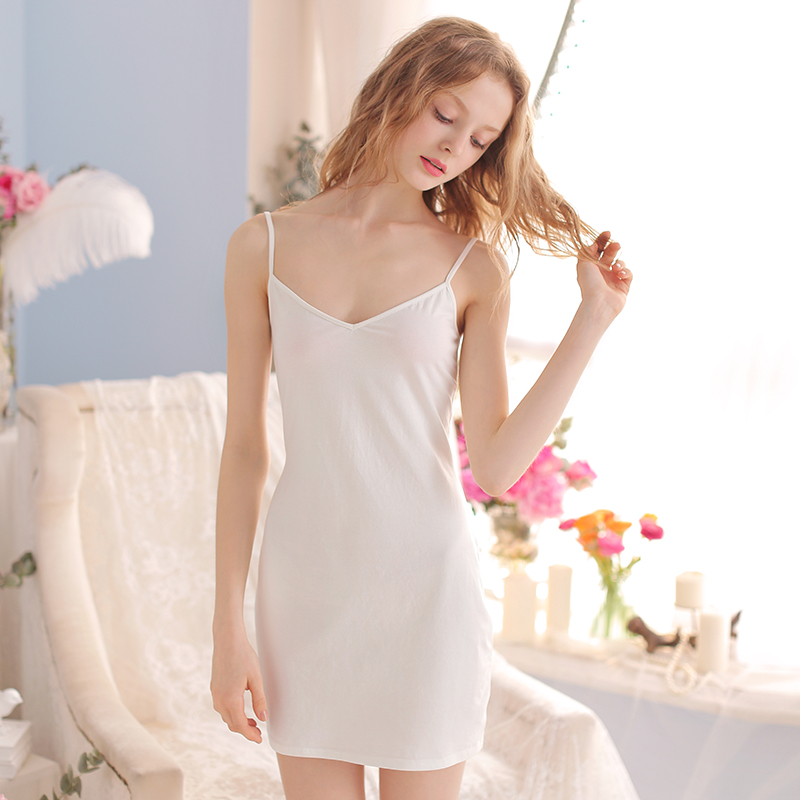 USD 34.48  RoseTree strap tight sexy nightdress summer pure cotton ... f429799d0