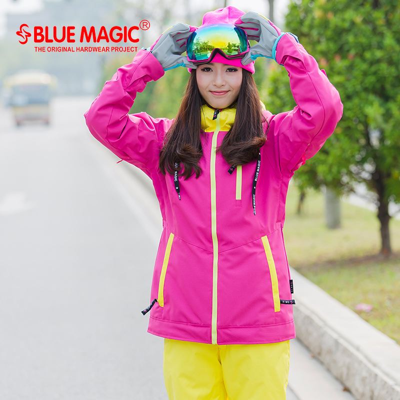 ec9b18094ade BlueMagic ski suit female authentic assault clothing thick waterproof winter  outdoor snow coat warm cold