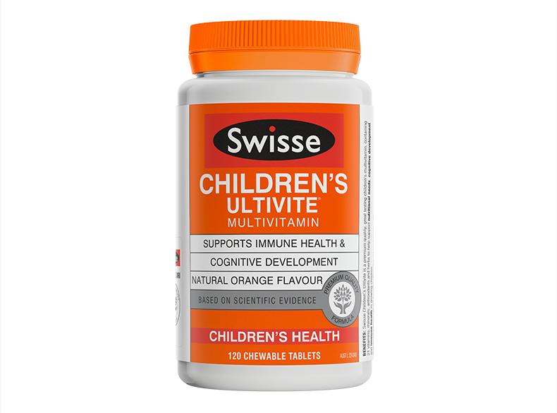 【新】swisse小孩复合维生素矿物质咀嚼片 多种维生素120片 维生素 第3张