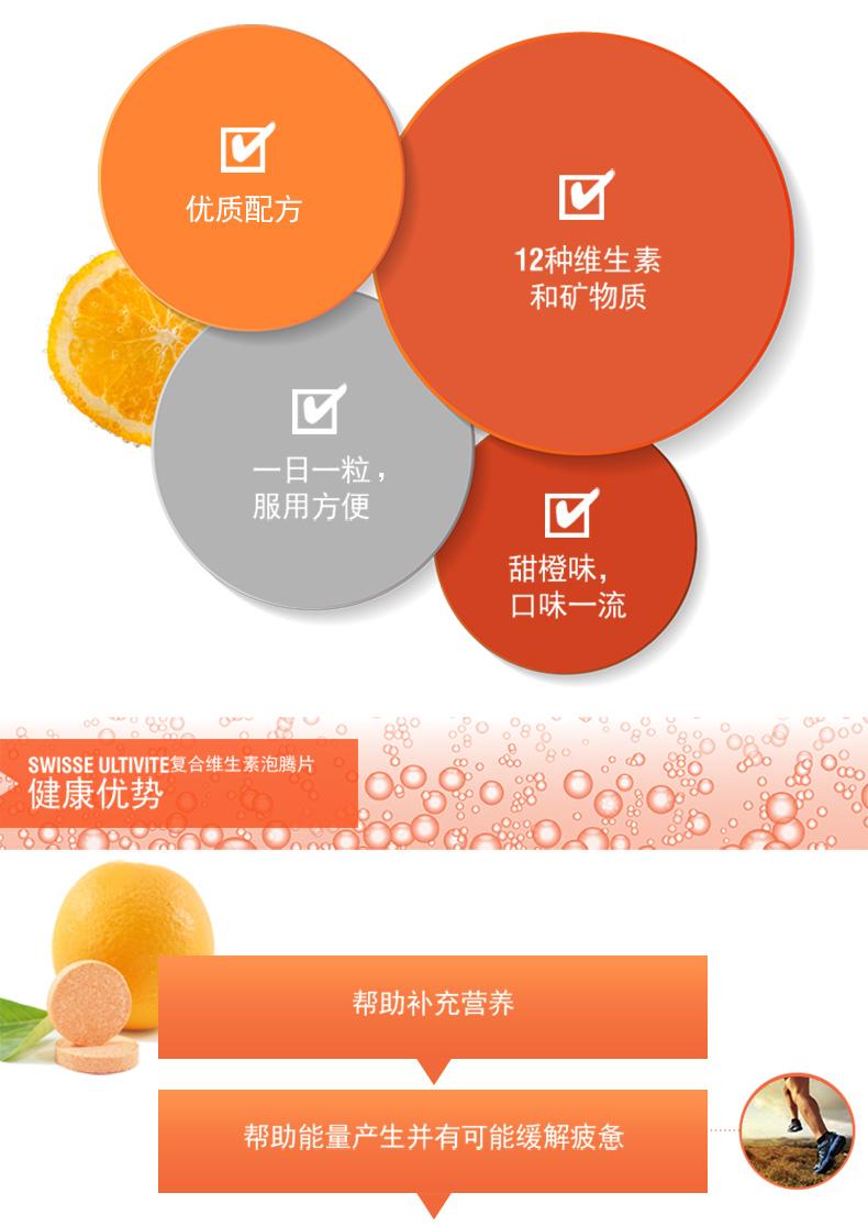 澳洲Swisse复合维生素泡腾片60片维持身体能量缓解压力易吸收 维生素 第5张