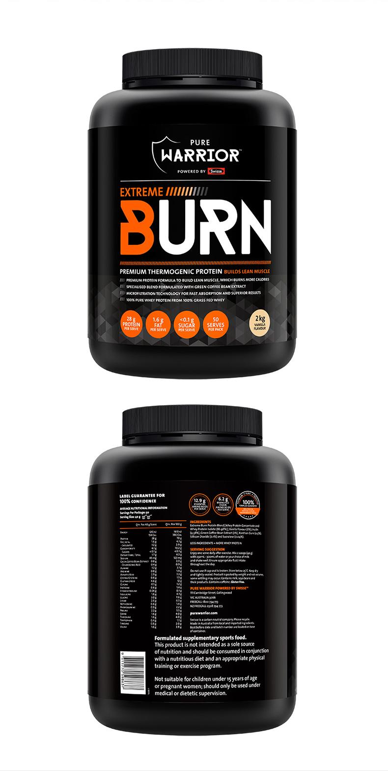 【新】Swisse乳清蛋白粉Pure Warrior健身粉香草味2kg增肌塑型 运动营养 第6张