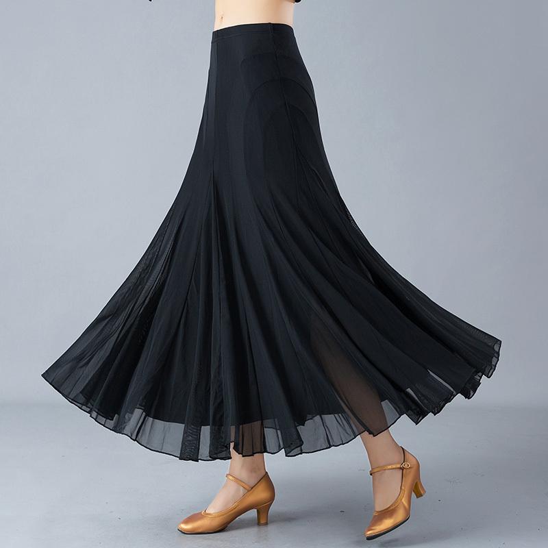 18 Adult Female Modern Dance Dress Waltz Social Dance Practice Half-length Skirt