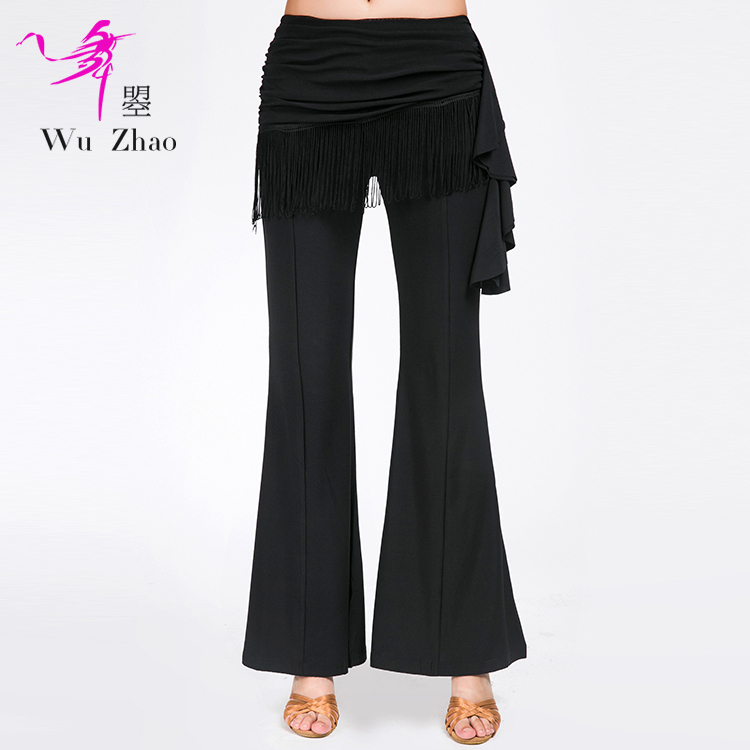 Adult Female Latin Dance LiuSuwei Bell Pants, Modern National Standard Dance Practice Pants