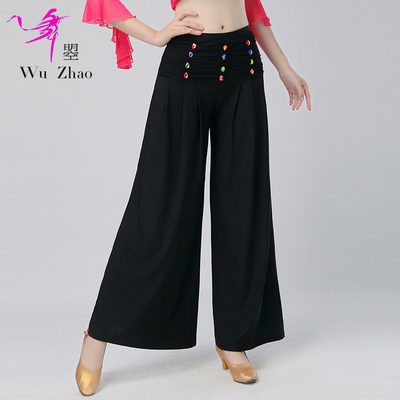 Modern Dance Broad-legged Pants Fashionable Latin National Standard Square Dance Practice Show Pants