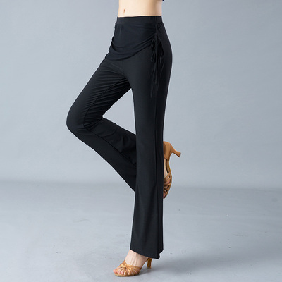 Adult female Latin pants, hip-wrapped and body-building, National Standard Square dance practice trousers