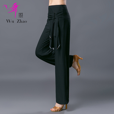 Adult Female Modern Dance Practice Pants Fashionable Slim Latin National Standard Dance Pants