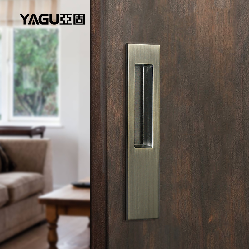USD 16.36] Solid sliding door handle sliding wooden door invisible ...