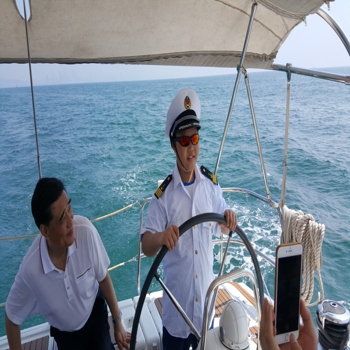 Qingdao luxury imported yacht sailing fishing boat charter boat party boat  rental island sightseeing free experience