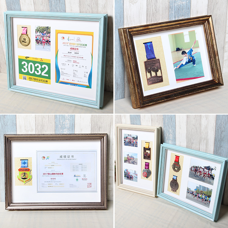 Custom marathon photo Medal box storage display frame certificate ...