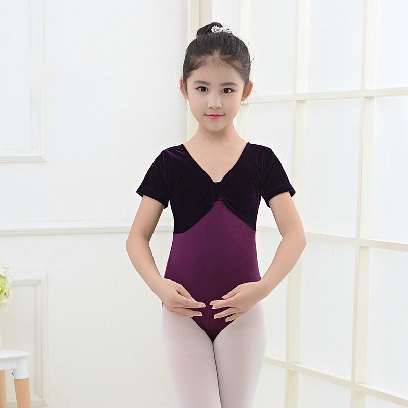 舞蹈服儿童女中国舞考级服装练功服长袖体操服秋冬季女孩舞蹈衣服