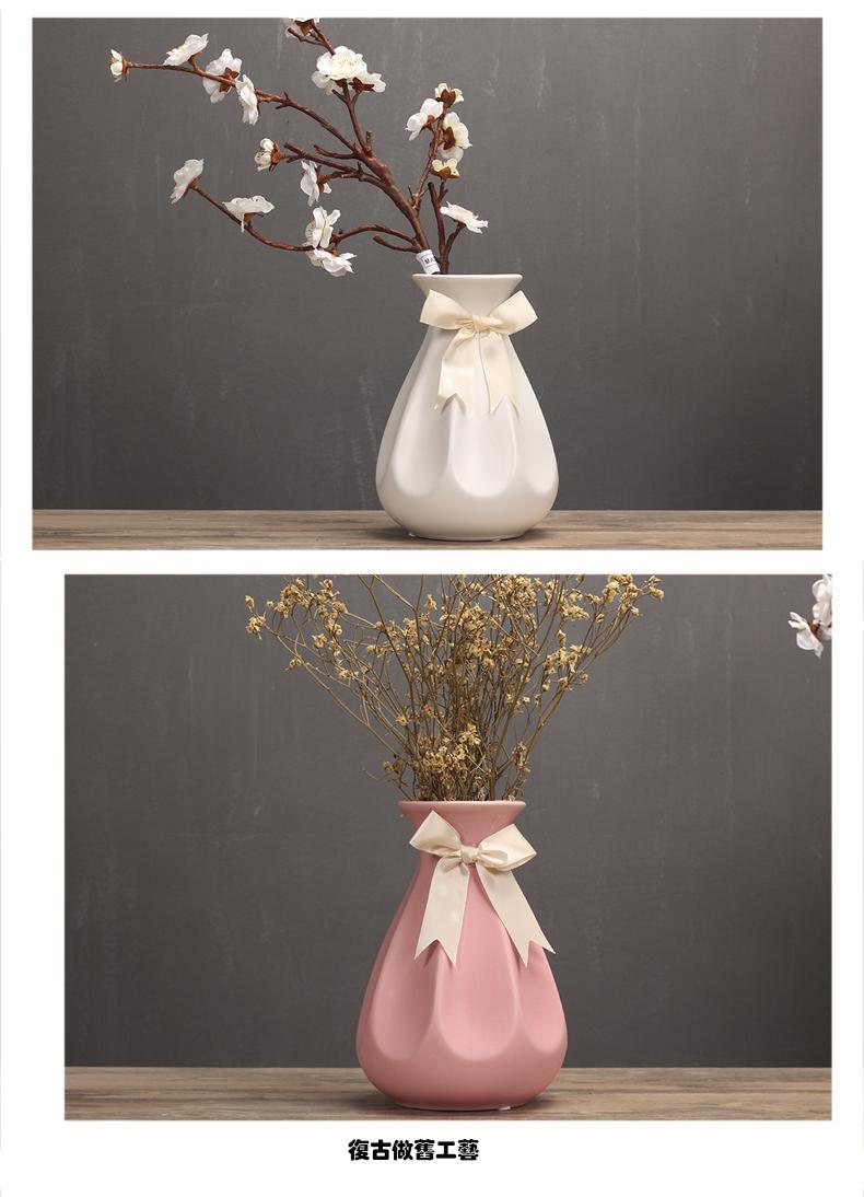 〖洋碼頭〗歐式簡約花瓶擺件現代室內客廳花盆仿真幹花器酒店樣板房軟裝飾品 hbs287