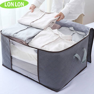 Clothes storage bag large clothing cotton is packaged bag finishing bag luggage hand feed storage box moving S