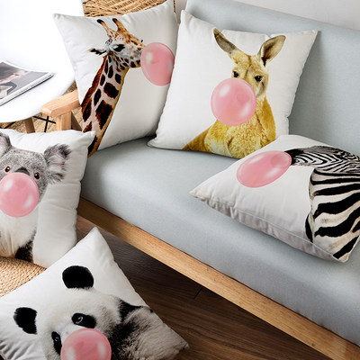 Qibei Nordic ins panda pillow quilt dual-purpose pillow quilt cute giraffe living room sofa cushion cushion pillow