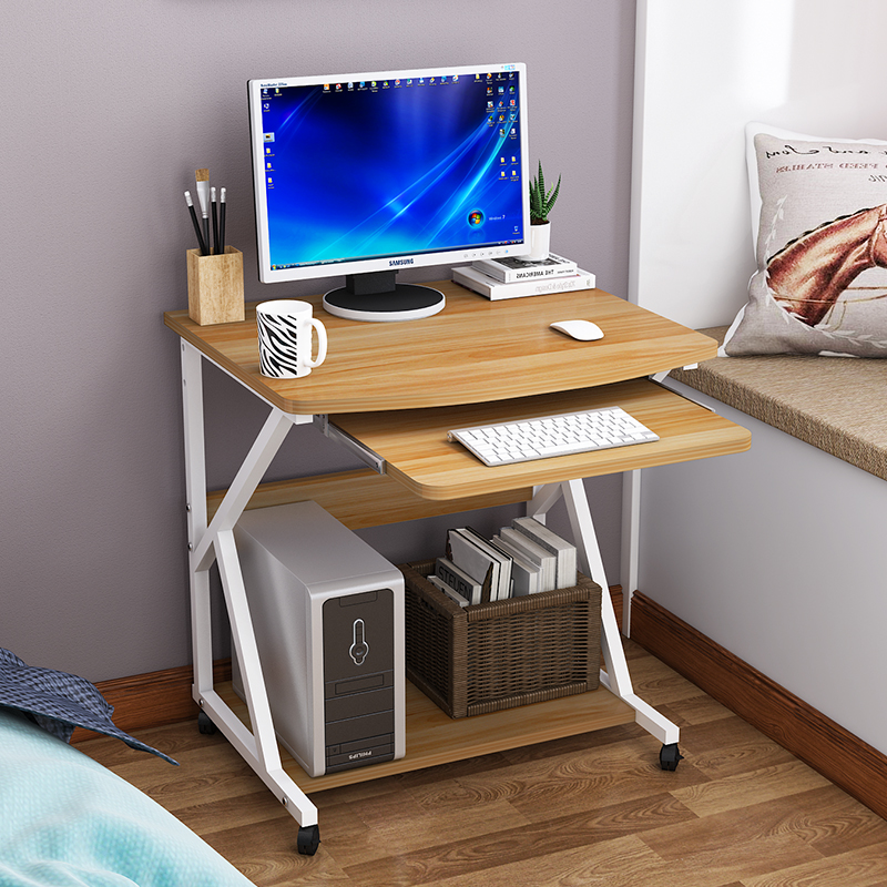 电脑桌台式家用单人小户型60cm简约桌迷你多功能卧室写字桌可移动
