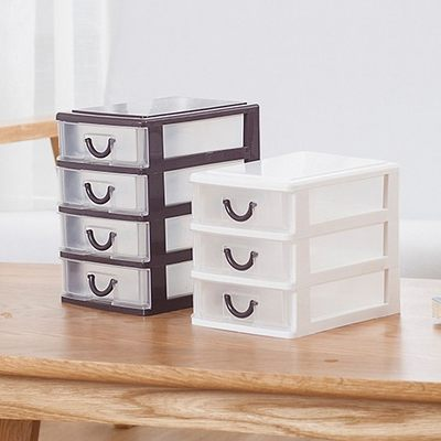 Creative minimalist desktop storage box cosmetic storage box mini jewelry box drawer storage box home