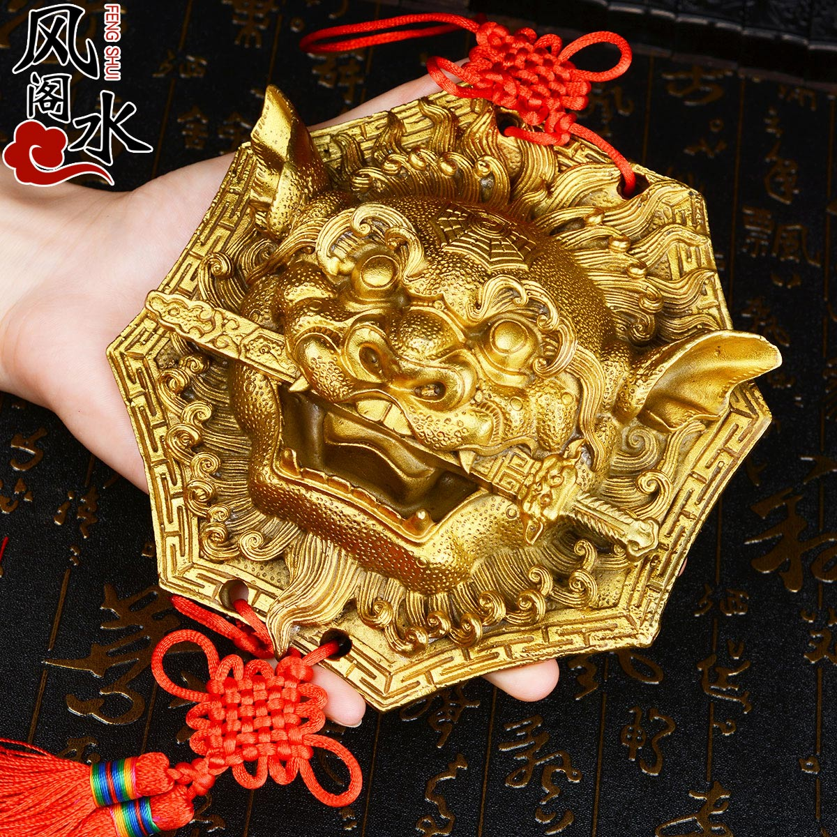Asian Antiques Chinese Brass Gossip Male Lion Home Decoration