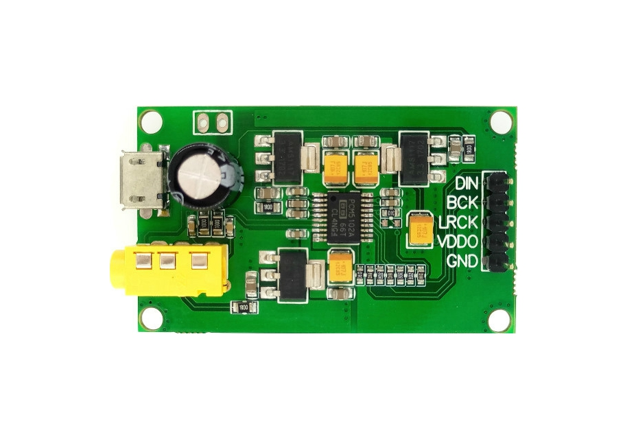 PCM5102A I2S IIS Raspberry Pi digital audio input DAC decoder board to AUX  analog output