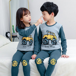 Ребенок осенняя одежда осенние брюки установите мальчиков девочки хлопок поддержка внутри тепло мужской одежды ребенок ребенок ребенок хлопок пижама