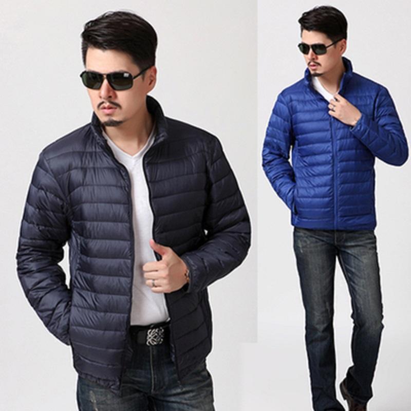 男士棉服冬季轻薄款修身棉袄短款中青年男人加大码休闲羽绒棉外套