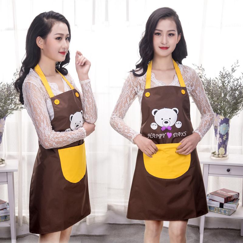 裙韩版衣罩袖子带成人的穿袖套冬季房用做饭长袖围裙有罩衣反女厨
