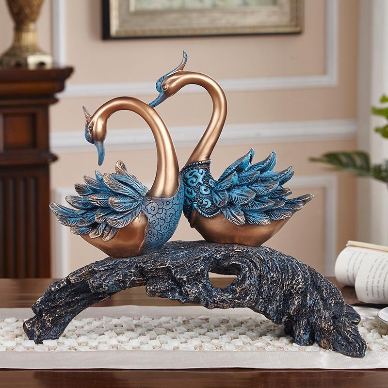 美式礼物稳居天鹅家装v礼物摆件房间装饰品装饰送礼欧式客厅工艺品