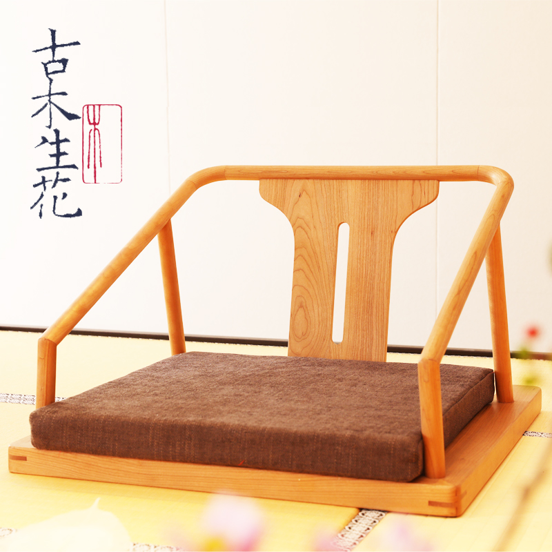 Swell Japanese Style Tatami Chair Solid Wood Without Legs Stool Dailytribune Chair Design For Home Dailytribuneorg