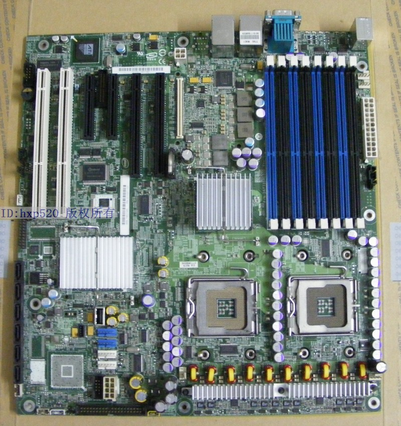 Intel S5000PSL workstation server Board Dual Xeon 771 support 51 52 53  series~