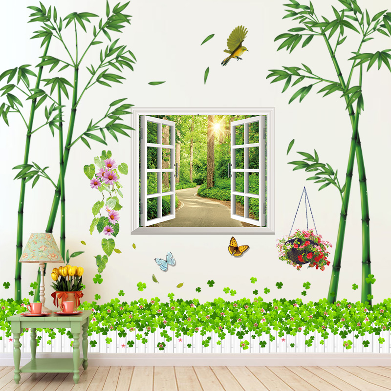 Wallpaper self-adhesive wall stickers living room bedroom room TV wall background wall decoration warm creative 3D stickers