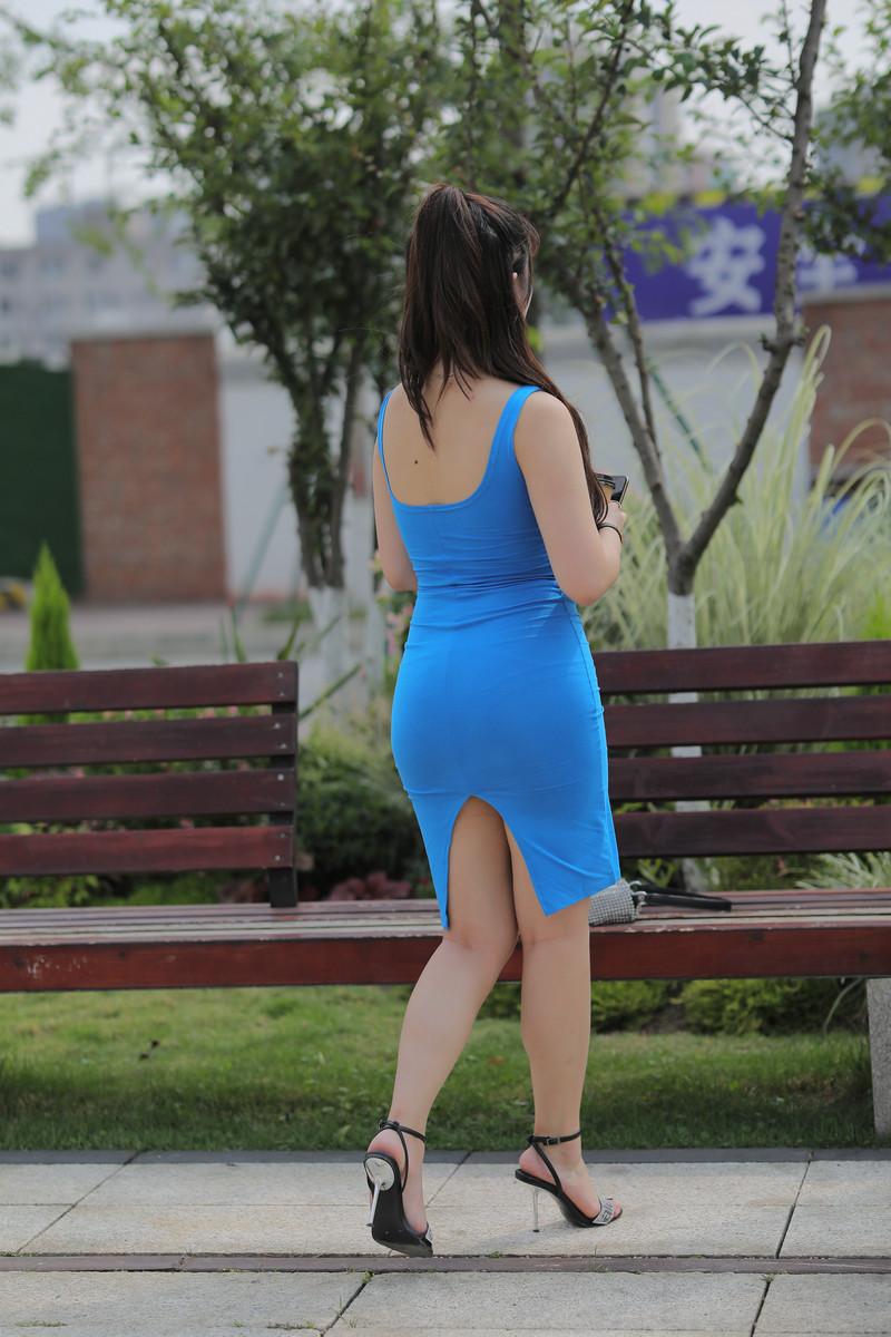 凯恩模拍作品丰腴的蓝色包臀裙美女【视频+图片】 88158815  帖子ID:763