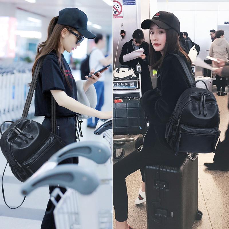 韩国代购20019新款女包双肩包女韩版软皮质时尚百搭迷你小包包