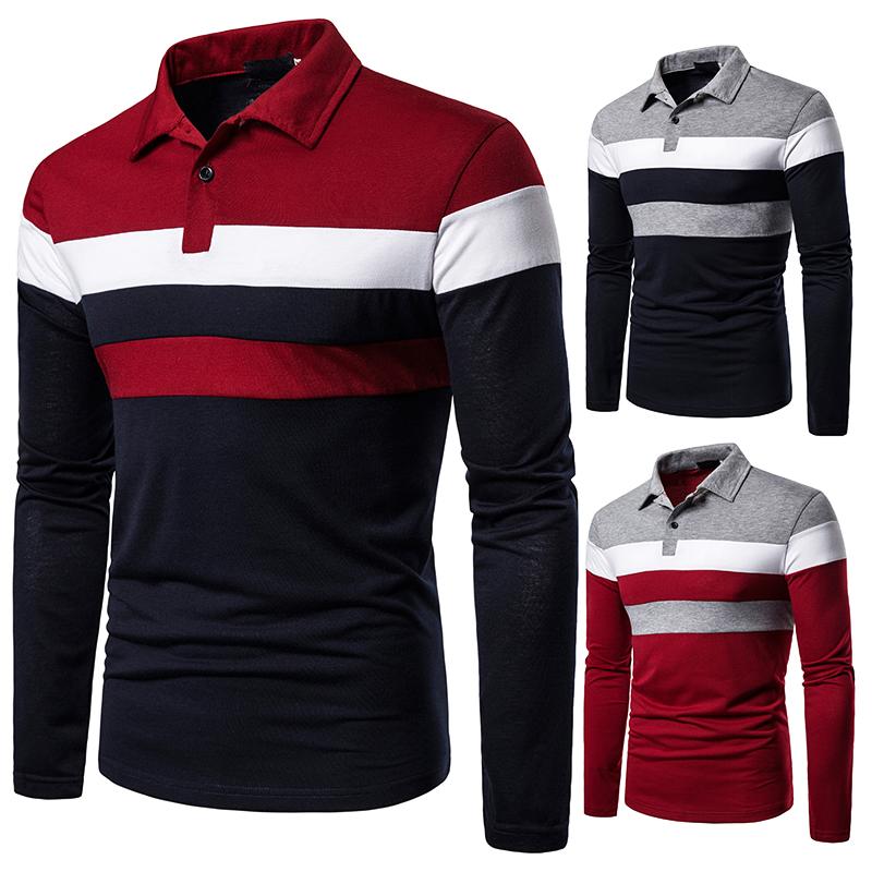O1CN013TKJKA1cmzoe6t7gf !!282993644 Men's POLO Tri-Color Sweatshirt