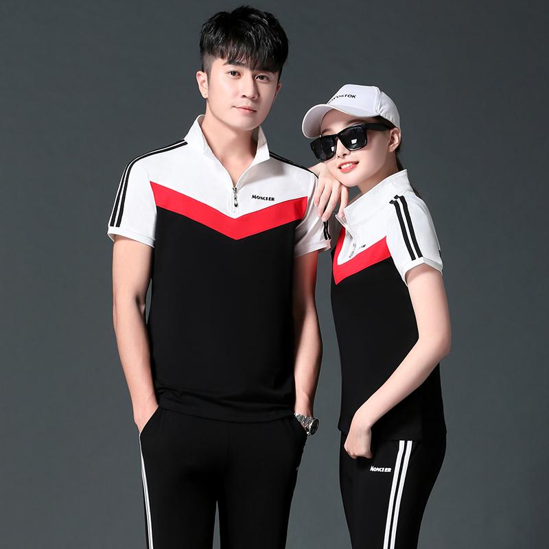 轩尧耐克泰。男装运动套装夏季2020新款长裤情侣短袖件套两夏装女
